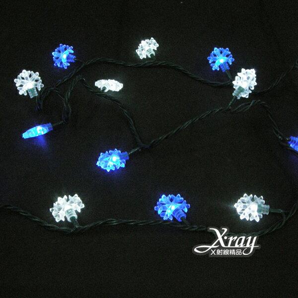 X射線【X100013】50燈LED雪花線燈+IC,聖誕樹/LED燈/聖誕燈/裝飾燈/燈飾/造型燈/聖誕佈置/聖誕樹
