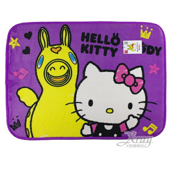 X射線~C253133~Hello Kitty跳跳馬腳踏墊^(紫^),防滑地墊 止滑地毯