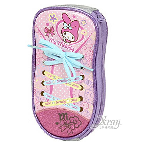 X射線【C097157】美樂蒂鞋型筆袋(粉),鉛筆盒/筆筒/收納/筆盒/開學必備/化妝包