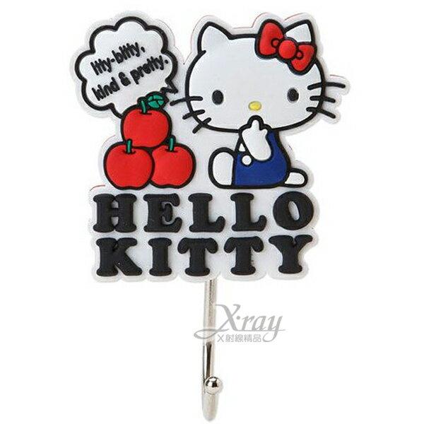 X射線【C401606】Hello Kitty強力磁鐵造型掛勾(白.立體),卡通/可愛日式/凱蒂貓/壁鉤/吸鐵/收?/無痕/三麗鷗