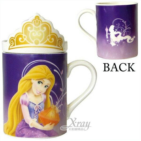 X射線【C232544】睡美人魚馬克杯《紫.皇冠》260ml,玻璃杯/水杯/創意杯/咖啡杯