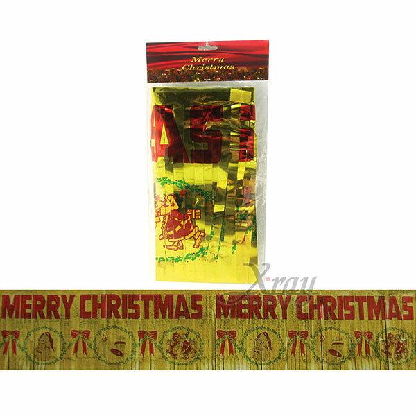 X射線【X875396】聖誕快樂字條錫箔(12寸),聖誕/聖誕佈置/聖誕掛飾/裝飾/吊飾