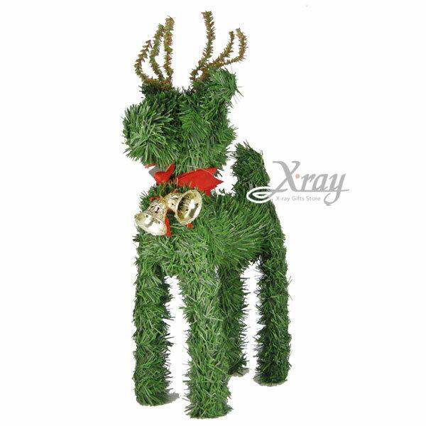 X射線【X658332】聖誕麋鹿加鐘(12寸),聖誕/佈置/聖誕裝飾/擺飾/交換禮物