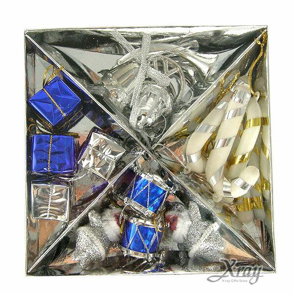 X射線【X381867】聖誕吊飾組(銀)(16入),聖誕/聖誕佈置/裝飾/吊飾/交換禮物