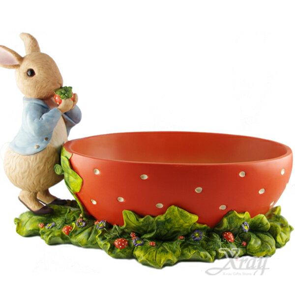 X射線【C160002】彼得兔草莓款置物盒,居家收納/裝飾/置物盒/送禮/辦公用品/畢業禮物/家庭雜貨