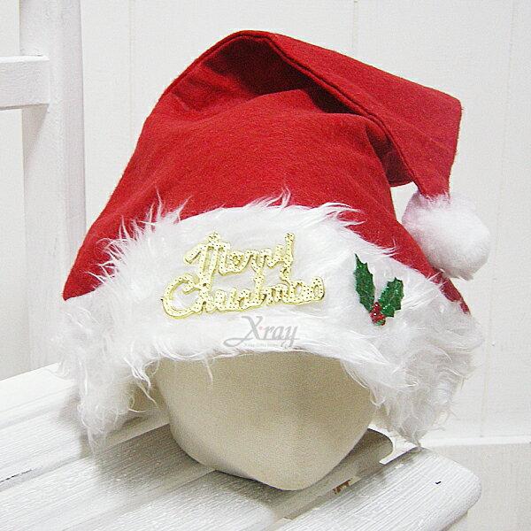 X射線【X010003】高級長毛聖誕帽(大人適用),聖誕/聖誕老公公裝/聖誕帽/角色扮演