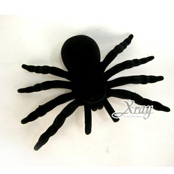 X射線【W659971】9吋植絨黑色小蜘蛛1入,佈置Party/角色扮演/化妝舞會/表演造型都合適~