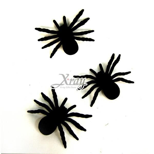 X射線【W658912】萬聖節植絨蜘蛛(4吋)(3入),Party/角色扮演/化妝舞會/表演造型都合適~