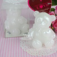 婚禮小物推薦到X 射線【Y751597】造型蠟燭婚禮小物系列-(熊快樂)含絲帶