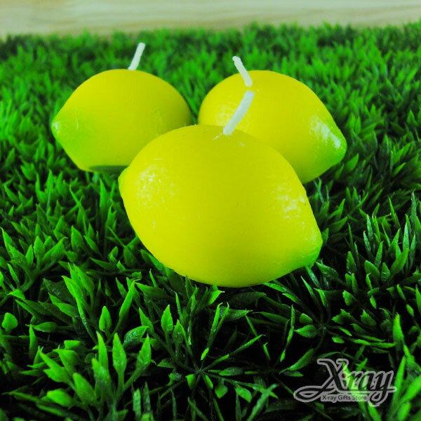 X射線【B491502】造型水果香味蠟燭/婚禮小物(檸檬)