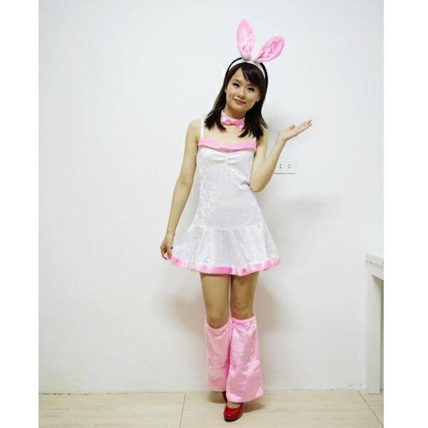 X射線節慶王~W390004~俏皮兔女郎附靴套 白色 ,化妝舞會  角色扮演  尾牙表演