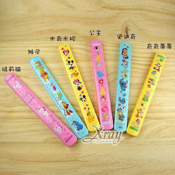X射線【C266292】迪士尼抽拉式筷盒,環保餐具/竹筷/筷子/不銹鋼筷