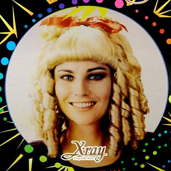 X射線~W030045~宮廷公主捲假髮,萬聖節服裝 表演道具 假髮 角色扮演