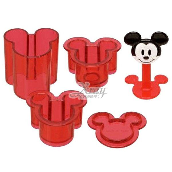 X射線【C121999】米奇Mickey臉型壓模(紅.造型),DIY模具組/點心製作/糕餅模型/廚房模具/做餐模具/野餐/飯模/模具/餅乾壓