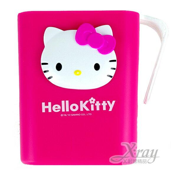 X射線【C057048】Kitty吸盤式漱口杯(粉色立體大臉),韓國製,漱口杯架/牙刷杯架/置物架/牙刷架/衛浴用品/浴室