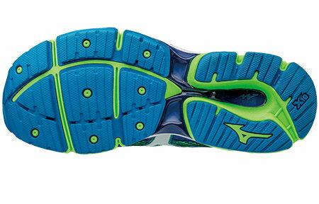 J1GC161101(藍X綠)一般型全腳掌吸震波浪片 WAVE ENIGMA 6 男慢跑鞋 S【美津濃MIZUNO】 1