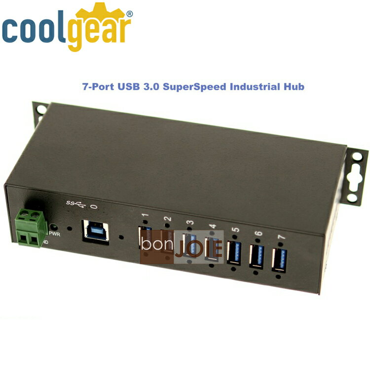 ::bonJOIE:: 美國進口 CoolGear 7 Port Industrial USB 3.0 Hub Metal Case 金屬外殼七孔集線器 (USBG-7U3ML) 鐵殼 7-Port ..