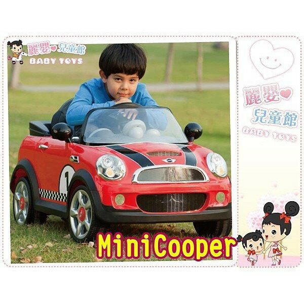 麗嬰兒童玩具館~BMW正版授權迷你Mini Cooper仿真電動車.搖控高質內裝.免運