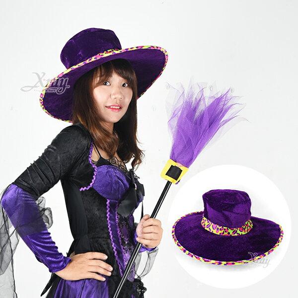 X射線【W382150】西部牛仔彩帽-豹紋紫,萬聖節/Party/角色扮演/化妝/舞會/cosplay/造型/牛仔帽/牛仔/帽子