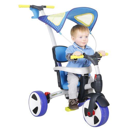 馬克文生 四合一多功能三輪車-(藍色)可變推車、滑步車、腳踏車、自行車★衛立兒生活館★