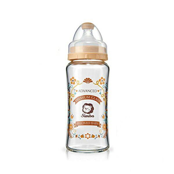專品藥局 小獅王Simba 蘿蔓晶鑽寬口葫蘆玻璃大奶瓶-270ml (咖啡) S69153 (實體簽約店面)【2008793】 1