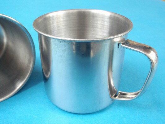 不銹鋼口杯小鋼杯(不加蓋)直徑約7cm一包12個入{定20}~智6944464400010
