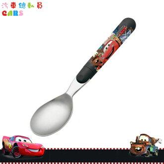 日本製 迪士尼 汽車總動員 閃電麥坤 Cars 不鏽鋼湯匙湯勺 兒童餐具 日本進口正版 288609