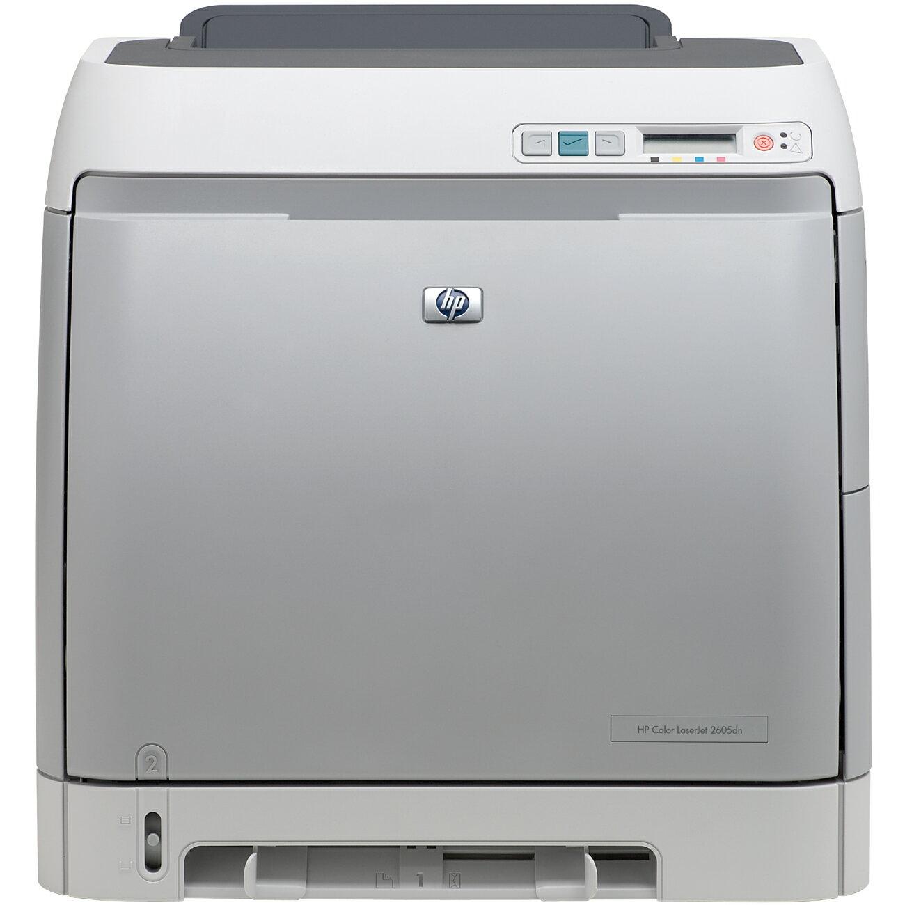 HP LaserJet 2605DN Laser Printer - Color - 1200 x 1200 dpi Print - Plain Paper Print - Desktop - 12 ppm Mono / 10 ppm Color Print - Letter, Legal, Envelope No. 10, Monarch Envelope, Executive - 250 sheets Standard Input Capacity - 35000 Duty Cycle - Autom 0