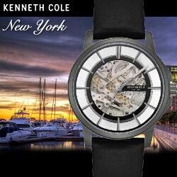 Kenneth Cole國際品牌都會型男鏤空機械時尚腕錶KC50227003公司貨/禮物/精品