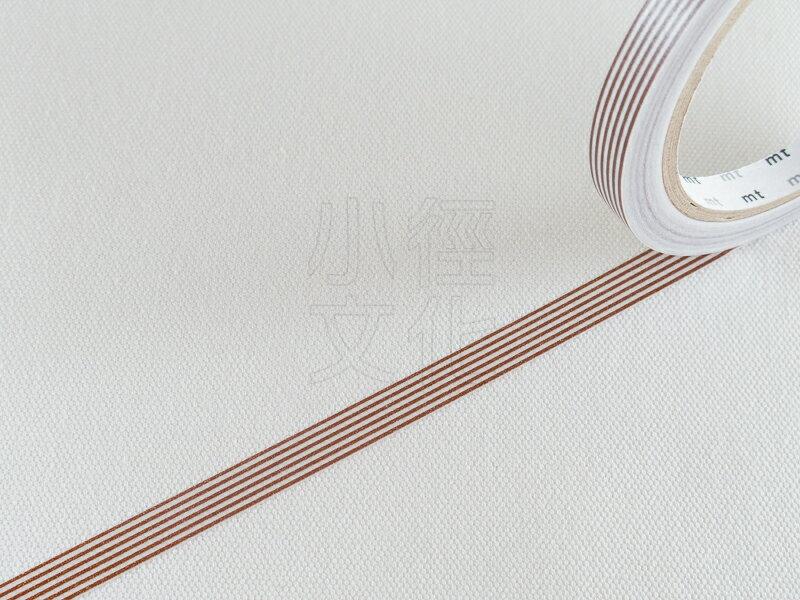 *小徑文化*日本和紙膠帶 mt sealer - 條紋 . 棕 ( MTSEA034 )