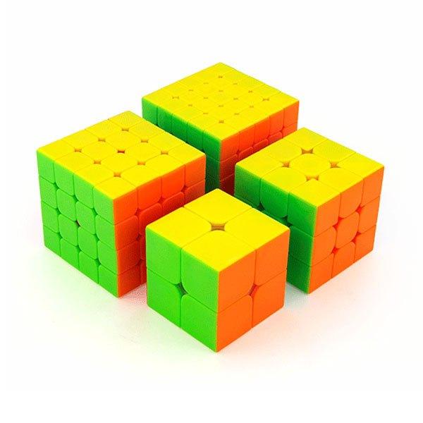 【888便利購】魔域魔術方塊大禮盒(2階+3階+4階+5階)(6色炫彩版)(授權)