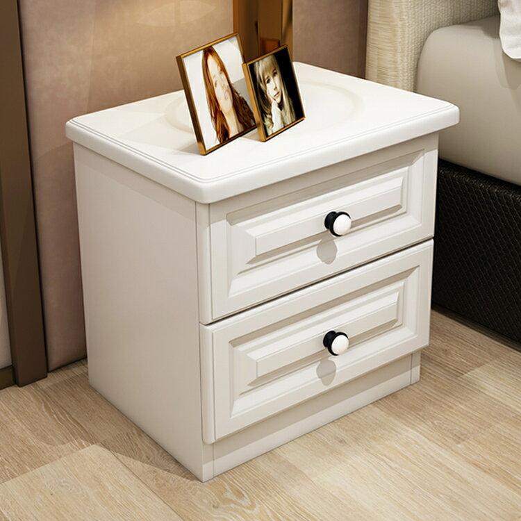全館【88】折--床頭櫃收納儲物簡約現代組裝簡易歐式床邊小櫃子迷你臥室 超值價