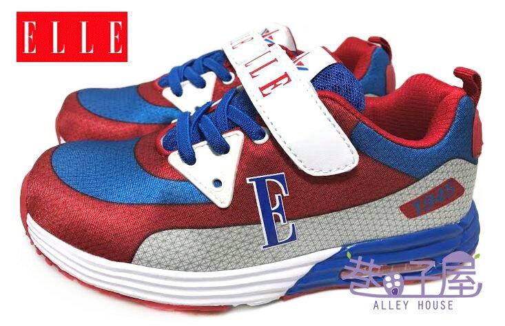 【巷子屋】ELLE 男童繽紛輕量康特杯運動慢跑鞋 [52142] 紅白 超值價$398