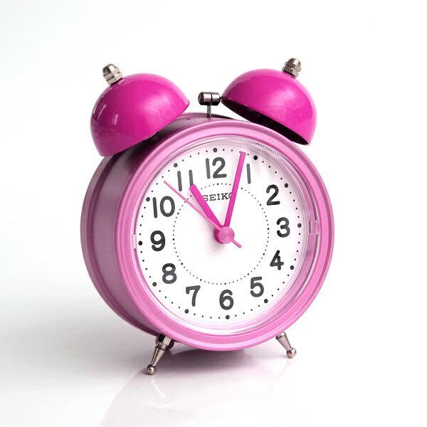 鬧鐘 SEIKO粉紅大聲公造型鬧鐘【NV20】柒彩年代