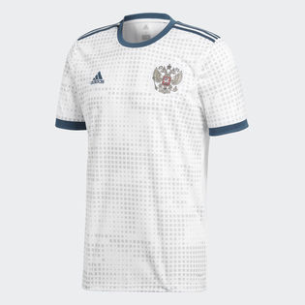 ADIDASRUSSIAAWAYJERSEY男裝上衣短袖世足賽世界盃俄羅斯白藍【運動世界】BR9067