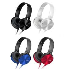 SONY頭戴式立體聲耳機MDR-XB450AP
