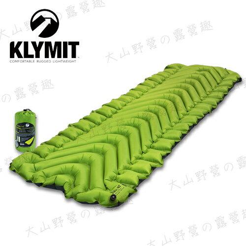 【露營趣】中和安坑 Klymit 06S2GR02C 第二代輕量級V型空氣墊 Static V2 吹氣款充氣睡墊 保暖空氣睡墊 露營睡墊 空氣墊 充氣墊