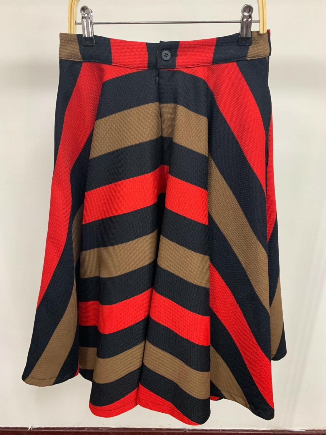 滿版條紋A字裙