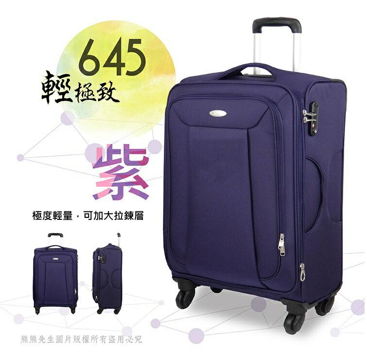 《熊熊先生》搶殺64折 Samsonite新秀麗 645 登機箱行李箱旅行箱 20吋 超輕量 布面 TSA海關鎖