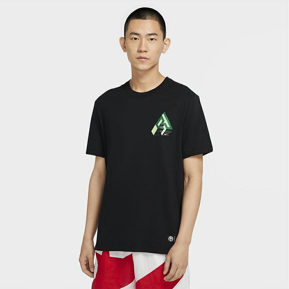 【領券最高折$300】Nike Dri-FIT Giannis Logo 男裝 短袖 籃球 休閒 字母哥 透氣 排汗 黑【運動世界】CV1092-010