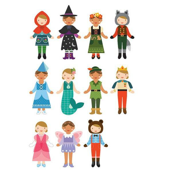 美國 Petit Collage 磁鐵換裝秀 - 童話故事 Unicorn