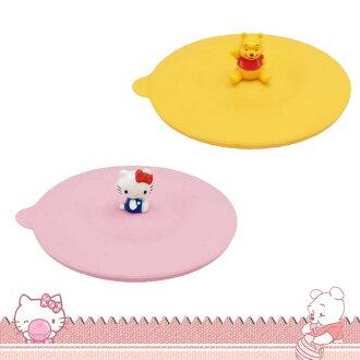大田倉 日本進口正版 三麗鷗 凱蒂貓 迪士尼 小熊維尼 矽膠保溫杯蓋 軟質杯蓋 可愛造型公仔