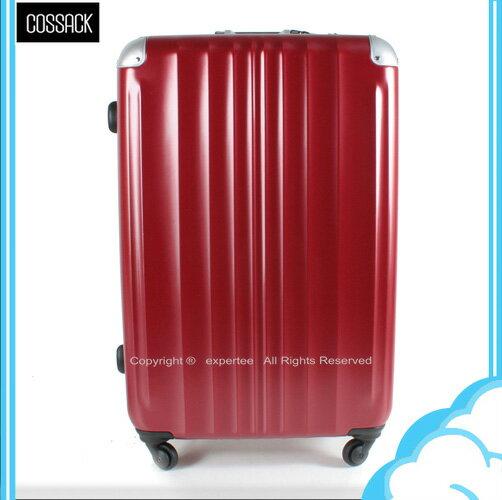 【騷包館】COSSACK  29吋 王者系列 日本HINOMOTO靜音輪鋁框霧面旅行箱 緋紅 CS11-2063029-10