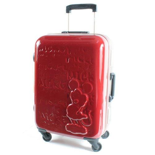 【騷包館】【CROWN皇冠】28吋TSA海關鎖 迪士尼米奇皇室版硬殼旅行箱 雙色紅黑