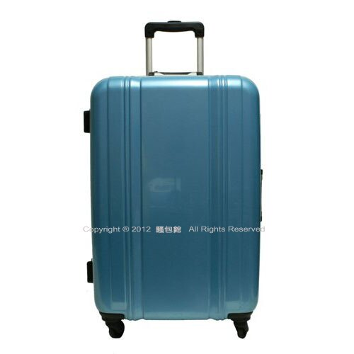 【騷包館】SUNCO 27吋鏡面直線海關鎖旅行箱 淺藍色(福利品)