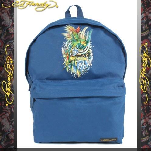 【騷包館】Ed Hardy 美國品牌刺青教父 天堂鳥後背包 寶藍色1A1A4PBY-N