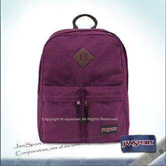 請詢問庫存【騷包館】JANSPORT專櫃 Hoffman棉質帆布雙口袋後背包 神祕紫 JS-43525J9ZI