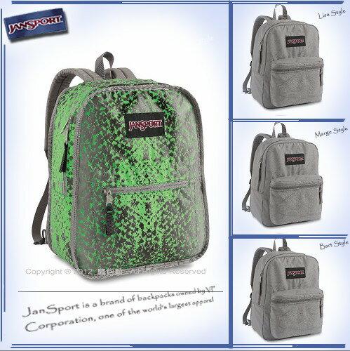 請先詢問庫存【騷包館】JANSPORT專櫃 輕型校園後背包 3D翻轉版 灰/綠 JS-43185J8DE
