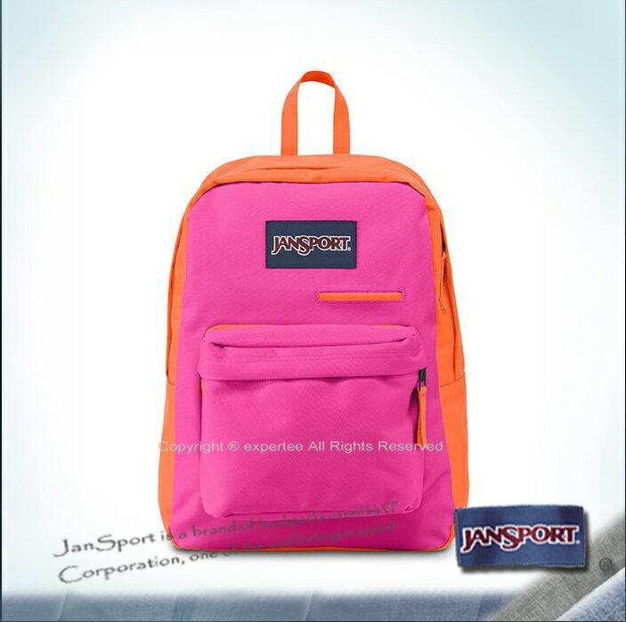 預定【騷包館】JANSPORT 專櫃 撞色款3C手機平板多功能後背包 螢光粉紅 JS-41550J9RX