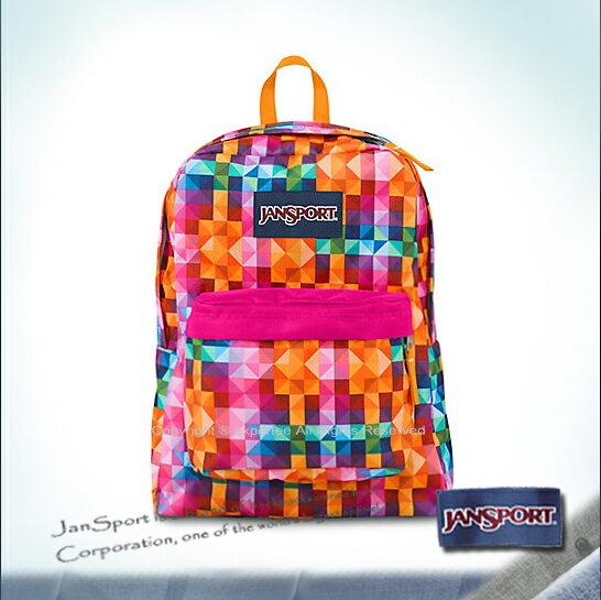 【騷包館】JANSPORT專櫃 輕型校園後背包 彩色方塊 JS-43501J01Z
